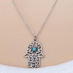 Jewelry - Hamsa Hand Pendant Necklace